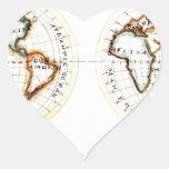 Un mapa del Amy Baldwin sc.jpg del mundo Calcomanía Corazón