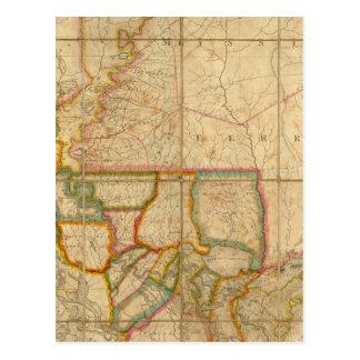 Un mapa del estado de Luisiana Postales