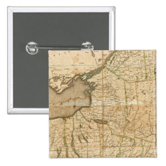 Un mapa del estado de Nueva York Pins