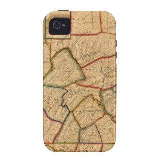 Un mapa del estado de Pennsylvania Case-Mate iPhone 4 Carcasas
