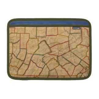 Un mapa del estado de Pennsylvania Funda MacBook