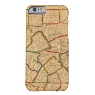 Un mapa del estado de Pennsylvania Funda Para iPhone 6 Barely There