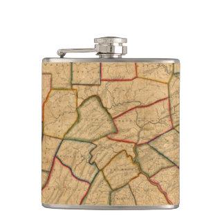 Un mapa del estado de Pennsylvania Petaca