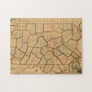 Un mapa del estado de Pennsylvania Rompecabezas Con Fotos