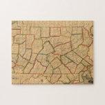 Un mapa del estado de Pennsylvania Rompecabeza