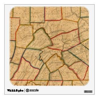 Un mapa del estado de Pennsylvania Vinilo Decorativo
