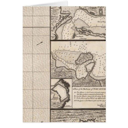 Un mapa del Imperio británico en la hoja 16 de Amé Tarjeta De Felicitación