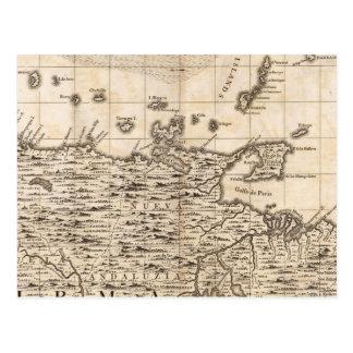 Un mapa del Imperio británico en la hoja 19 de Amé Postal