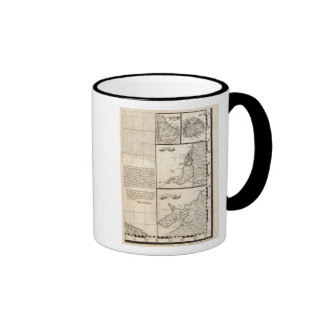 Un mapa del Imperio británico en la hoja 20 de Amé Tazas De Café