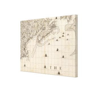 Un mapa del Imperio británico en la hoja 7 de Amér Impresion De Lienzo