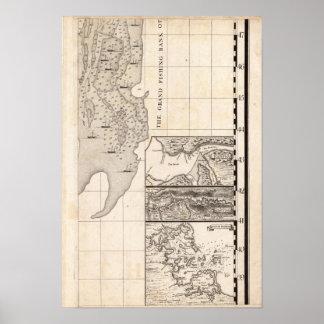 Un mapa del Imperio británico en la hoja 8 de Amér Póster