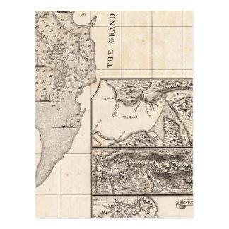 Un mapa del Imperio británico en la hoja 8 de Amér Postales