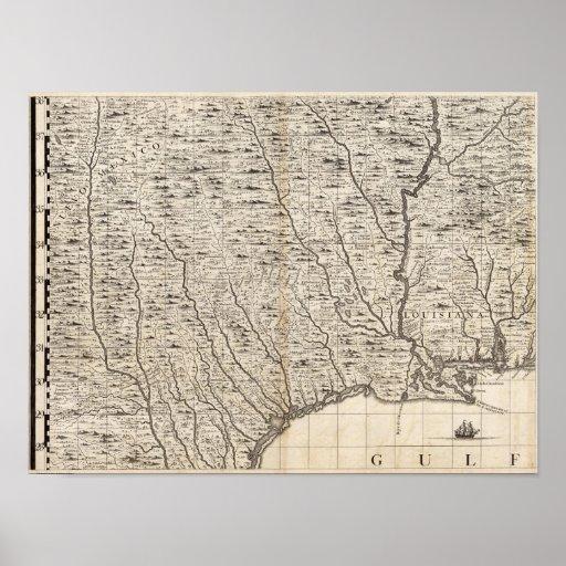 Un mapa del Imperio británico en la hoja 9 de Amér Póster