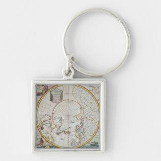 Un mapa del Polo Norte Llavero