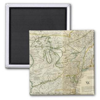 Un mapa exacto de la sección septentrional de Nort Imán Cuadrado