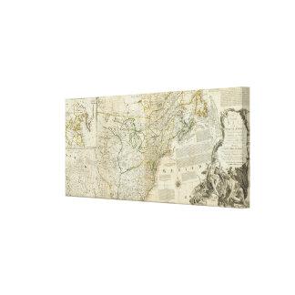 Un mapa exacto de la sección septentrional de Nort Impresión De Lienzo
