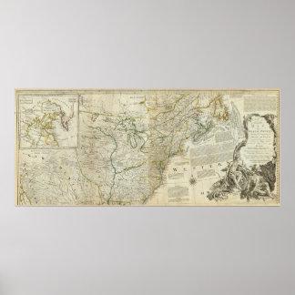 Un mapa exacto de la sección septentrional de Nort Impresiones