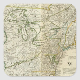 Un mapa exacto de la sección septentrional de pegatina cuadrada