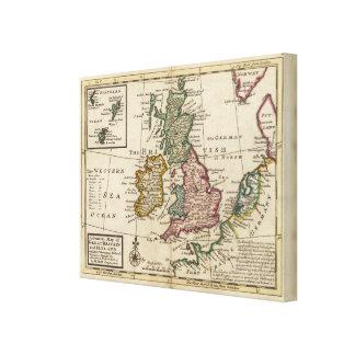 Un mapa general de Gran Bretaña y de Irlanda Lienzo Envuelto Para Galerías