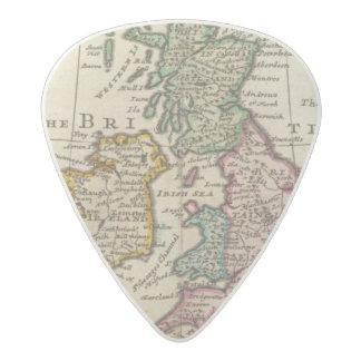 Un mapa general de Gran Bretaña y de Irlanda Púa De Guitarra Acetal