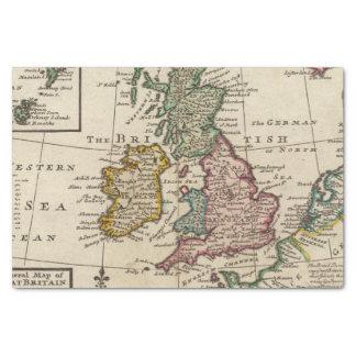 Un mapa general de Gran Bretaña y de Irlanda Papel De Seda Pequeño