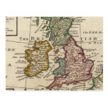 Un mapa general de Gran Bretaña y de Irlanda Tarjeta Postal