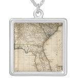 Un mapa general de las colonias británicas meridio colgante cuadrado