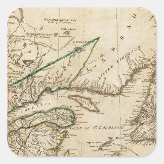 Un mapa general de las colonias británicas calcomanias cuadradas
