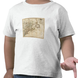 Un mapa general de las colonias británicas camisetas