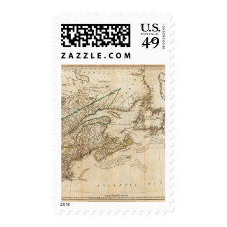 Un mapa general de las colonias británicas sello