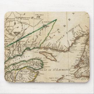 Un mapa general de las colonias británicas septent alfombrillas de raton