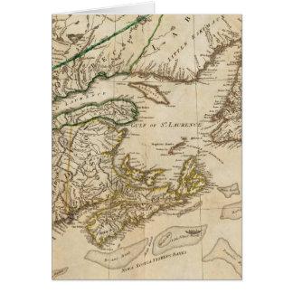 Un mapa general de las colonias británicas septent felicitacion
