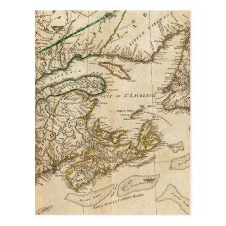 Un mapa general de las colonias británicas septent tarjetas postales
