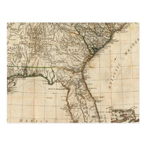Un mapa general de las colonias británicas tarjeta postal