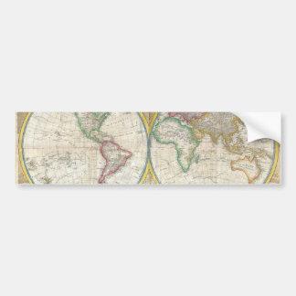 Un mapa general del mundo de Samuel Dunn 1794 Pegatina Para Auto