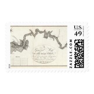 Un mapa general del río Ohio Sellos
