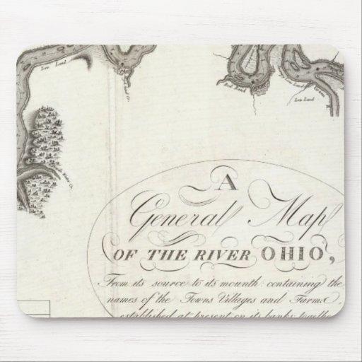Un mapa general del río Ohio Tapetes De Raton