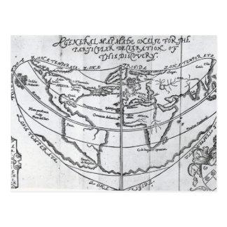 Un mapa general tarjetas postales