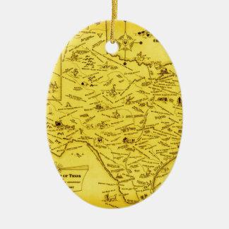 Un mapa literario de Tejas por el Pub Lib 1955 d Ornamento De Reyes Magos