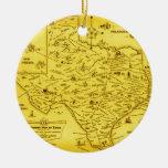 Un mapa literario de Tejas por el Pub Lib (1955) . Adorno De Navidad