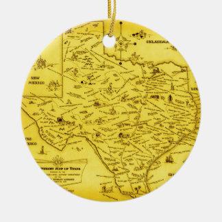 Un mapa literario de Tejas por el Pub Lib 1955 Adorno De Navidad