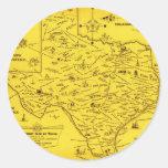 Un mapa literario de Tejas por el Pub Lib (1955) Etiquetas Redondas