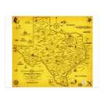 Un mapa literario de Tejas por el Pub Lib (1955) Postal