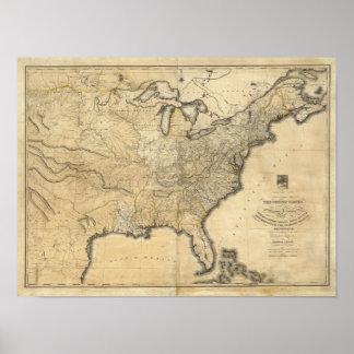 Un mapa nuevo y correcto de los Estados Unidos Impresiones