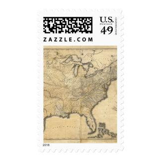Un mapa nuevo y correcto de los Estados Unidos Sello