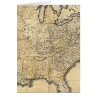 Un mapa nuevo y correcto de los Estados Unidos Felicitación