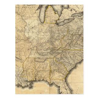 Un mapa nuevo y correcto de los Estados Unidos Postal