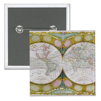 Un mapa nuevo y correcto del mundo, 1770-97 pin