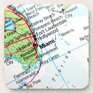 Un mapa que muestra la ciudad americana de Miami Posavaso