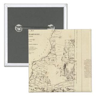 Un mapa topográfico pin cuadrado